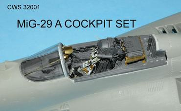 MiG-29 A Cocpit set in 1/32 scale for Revell