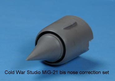 MiG-21 bis nose correction set for Eduard in 1/48 scale
