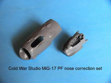 MiG-17 PF nose correction set for the Hobby Boss kit in 1/48 scale