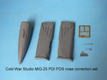 MiG-25 PD/PDS nose correction set for the Kitty Hawk kit in 1/48 scale